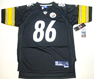 Hines Ward Black Reebok NFL Premier Pittsburgh Steelers Youth Jersey Youth Small by Reebok