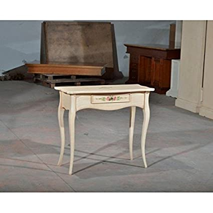 Console Table Wood With Ivory Patina Decorated – codluis 1129