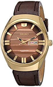 Amazon.com: Seiko Men's SNKN08 Analog Display Automatic Gold Tone