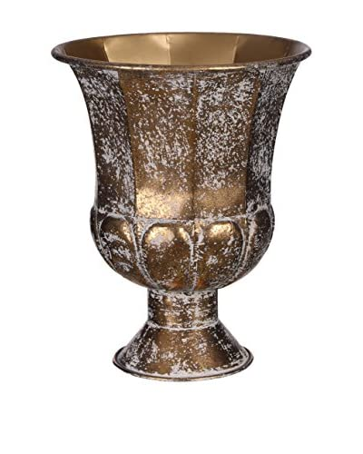 Concept luxe decoratieve vaas goud