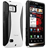 Insten Hybrid Case Compatible with Motorola Droid Bionic XT875, Black TPU / White Hard