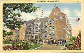 1940s Vintage Postcard - High School - Poughkeepsie New York