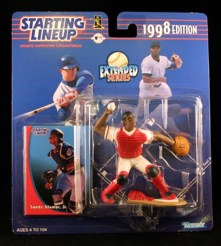 SANDY ALOMAR JR. / CLEVELAND INDIANS 1998 MLB Extended Series Starting Lineup Action Figure & Exclusive Collector Trading Card - 1
