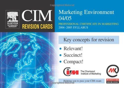 CIM Revision Cards: Marketing Environment 04/05