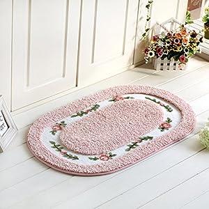 fatacy ellipse floral rug carpet