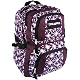 16.75 inch Purple Mod Stars Circles Squares TrailMaker Multiple Compartment Backpack High School Book Bag Knapsack Hiking Daypack | Primal Heels