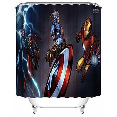 Captain America Waterproof Fabric Shower Curtain,72 x 72-Inch Waterproof Fabric Shower Curtain,72 x 72-Inch