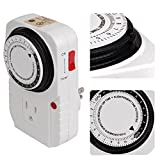 24-hours Grounded Timer for Home Grow Tent Fan Blower Aquarium Light