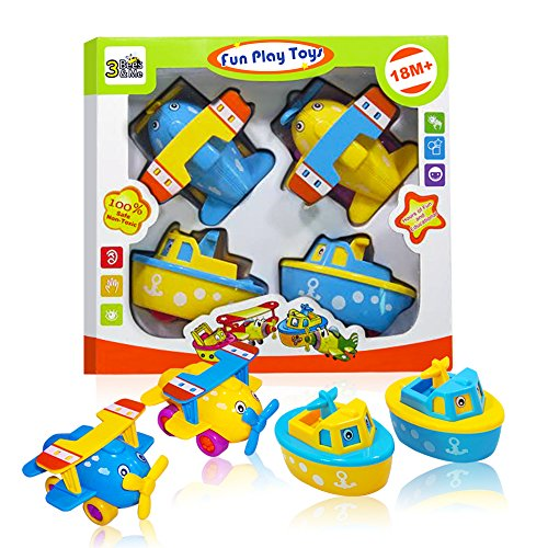 Fun Bath Toys for Boys and Girls - Boats and Planes for Toddlers and Older Kids