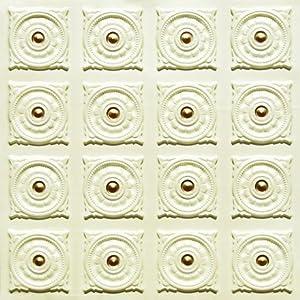 Amazon.com: 128 Faux Tin Ceiling Tile Glue up (24x24 ...