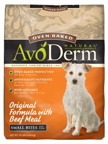 Avoderm Natural Oven-Baked Original Formula With Beef Meal Small Bites Dog Food, 15-Pound front-393856