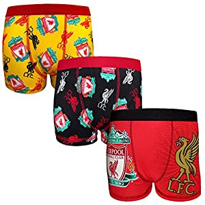 Liverpool FC Official Football Gift 3 Pack Boys Crest Boxer Shorts 7-8 Years from Liverpool FC