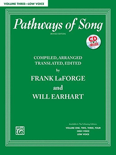 Pathways of Song, Vol 3: Low Voice, Book & CD (Pathways of Song Series) by Frank LaForge (2012-03-01)