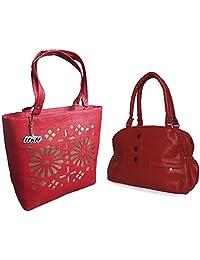 Arc HnH Women HandBag Combo - Elegant Red + Blossom Red