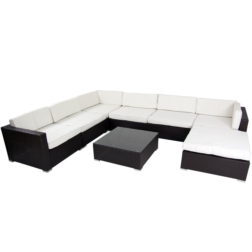 Polyrattan Lounge / Sitzgarnitur Martinique – braun jetzt bestellen