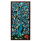 Stained Glass Peacock Sky Suncatcher Panel ~ Pem America