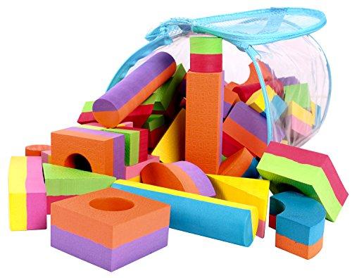 Click n 39 play non toxic foam blocks building block and for Foam blocks building construction