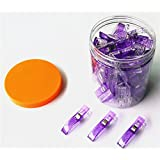 CADY Wonder Clips -50 Jumbo Clips! - Vibrant Colors! All Purpose Craft Clips - Perfect as Sewing Clips, Quilting Clips,Binding Clips& More! Purple (Color: 50 Purple, Tamaño: big 50 pcs)