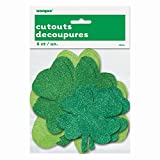 Glitter Cut Out Shamrock St. Patrick s Day Decorations, 6ct