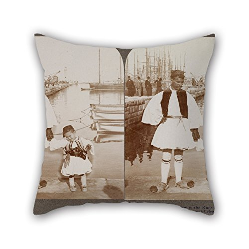 [Loveloveu 20 X 20 Inches / 50 By 50 Cm Oil Painting Underwood Underwood - Father And Son In The Patras Harbour Throw Pillow Covers,double Sides Is Fit For Boy Friend,festival,deck Chair,kids] (Father Son Star Wars Costumes)