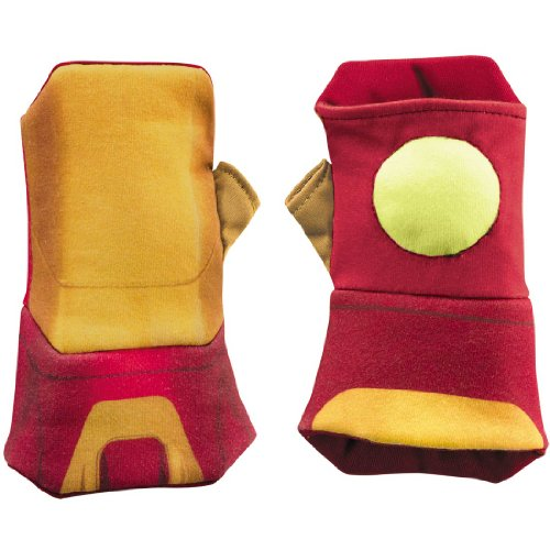 Kids Iron Man Mark 42 Glow Soft Costume Gauntlets - Child Std.