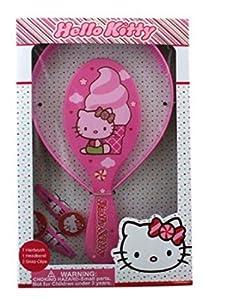 Granny's (c) Hello Kitty Pretend Play Hair Brush,Headband,and two snap hair clips-Hello Kitty Hair Care Set