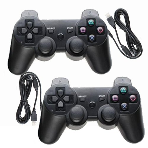 2 PACK OF PLAYSTATION 3 / PS3 DUAL SHOCK WIRED CONTROLLER JOYPAD, SONY COMPATIBLE - Hi-TEC ESSENTIALS