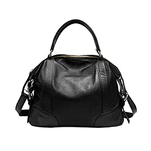 Kattee Top Layer Cow Leather Large Tote Shoulder Bags