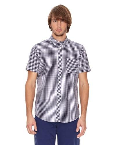 Ben Shermann Camisa Casual Ilias Azul Claro / Blanco
