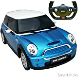 Smart Picks Officially Licensed Electric 1:14 Scale Full Function Mini Cooper (S) Remote Control Car (Blue)
