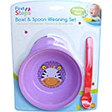 Baby Bowl Spoon Weaning Set Purple