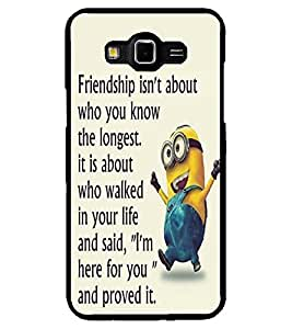 ColourCraft Funny Image With Quote Design Back Case Cover for SAMSUNG GALAXY GRAND 3