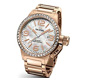 TW Steel Damen-Armbanduhr Canteen Style bracelet Analog Quarz Edelstahl beschichtet TW-306