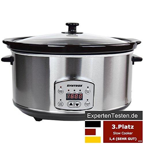 Syntrox-Germany-65-Liter-Digitaler-Edelstahl-Slow-Cooker-mit-Timer-und-Warmhaltefunktion