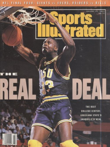 1991 January 21, No Label Newsstand Sports Illustrated - The Real Deal Shaquille O'Neal Vs. Lsu