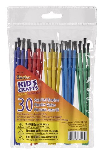 plastic paint brushes