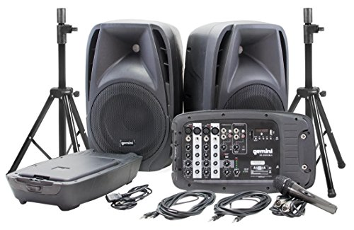 Gemini ES-210MXBLU Bluetooth Portable PA System With Detachable Powered Mixer (Power Peavey 900 compare prices)