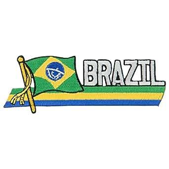 Amazon.com: South America Cutout Embroidered Patch - Brazil OSFM