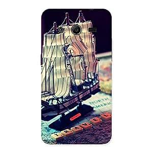 Premium Travel Ship Map Multicolor Back Case Cover for Galaxy Core 2