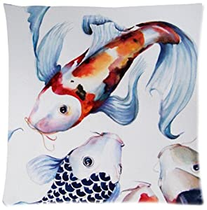 Japanese koi fish cotton pillow case cover for Koi fish pillow