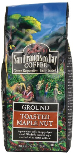 San Francisco Bay Coffee Ground Toasted Maple Nut Coffee, 12-Ounce Bag