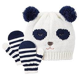 Carter\'s Baby Girls\' Panda Hat & Mitten Set (2T-4T, Ivory) ...