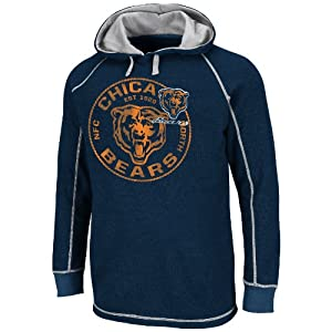 NFL Chicago Bears Men's Team Spotlight II Long Sleeve Pull Over, Navy/Steel, Small