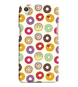 Printvisa Assorted Doughnut Pattern Back Case Cover for Oppo F1 Plus::Oppo R9