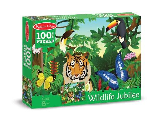 Melissa & Doug Wildlife Jubilee Cardboard Jigsaw Puzzle, 100-Piece