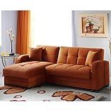 Kubo Rainbow Orange Sectional Sofa