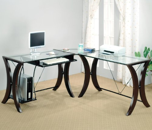 Buy Low Price Comfortable Division L-Shape Computer Desk Unit by Coaster (B0051BF5FS)