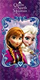 Disney Beach Towel Frozen Anna & Elsa Queen of the Mountain Bath Towel 100% Cotton