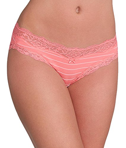 dkny-downtown-cotton-bikini-m-coral-pink-stripe