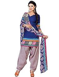 Riti Riwaz Riti Riwaz Women Poly Cotton Printed Unstitched Salwar Suit Dress Material With Dupatta